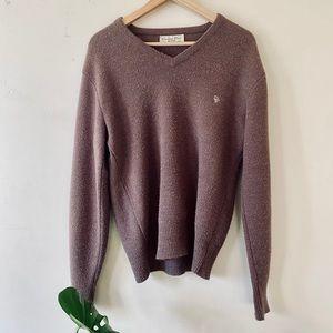 Christian Dior VTG Monsieur Brown V-neck Sweater